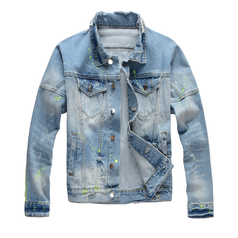 Splash Ink Denim Jacket