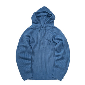 Solid Knitted Hoodie