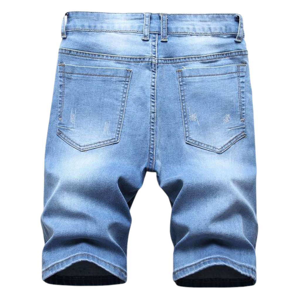 Paintspray Denim Shorts