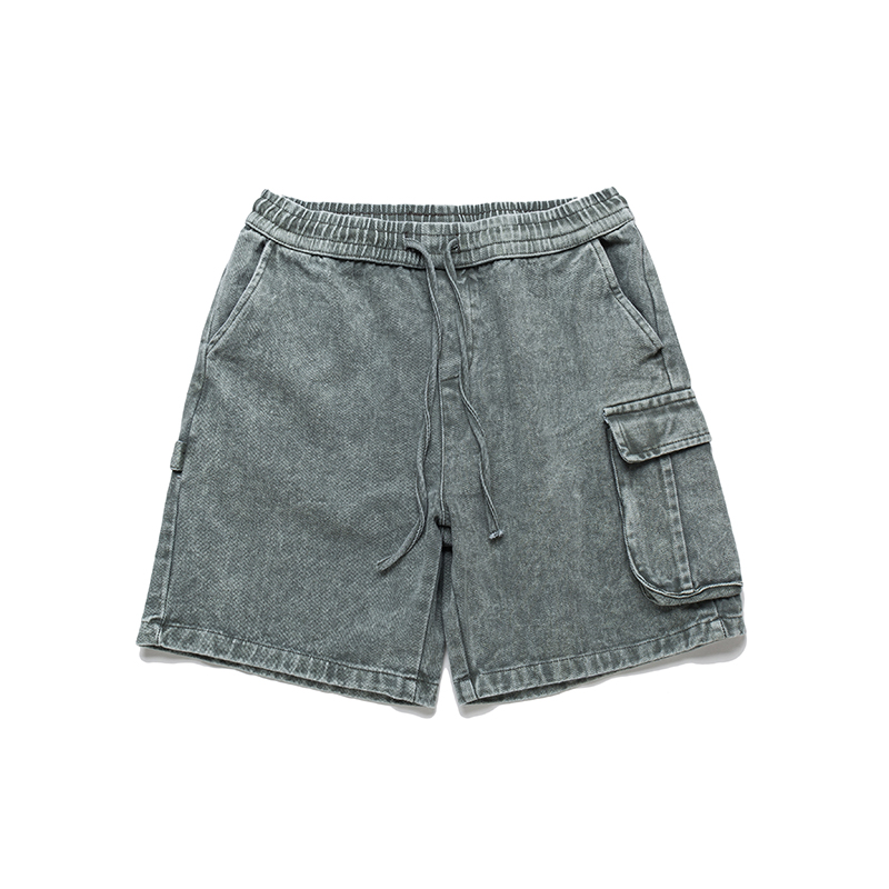 Stonewashed Cargo Shorts