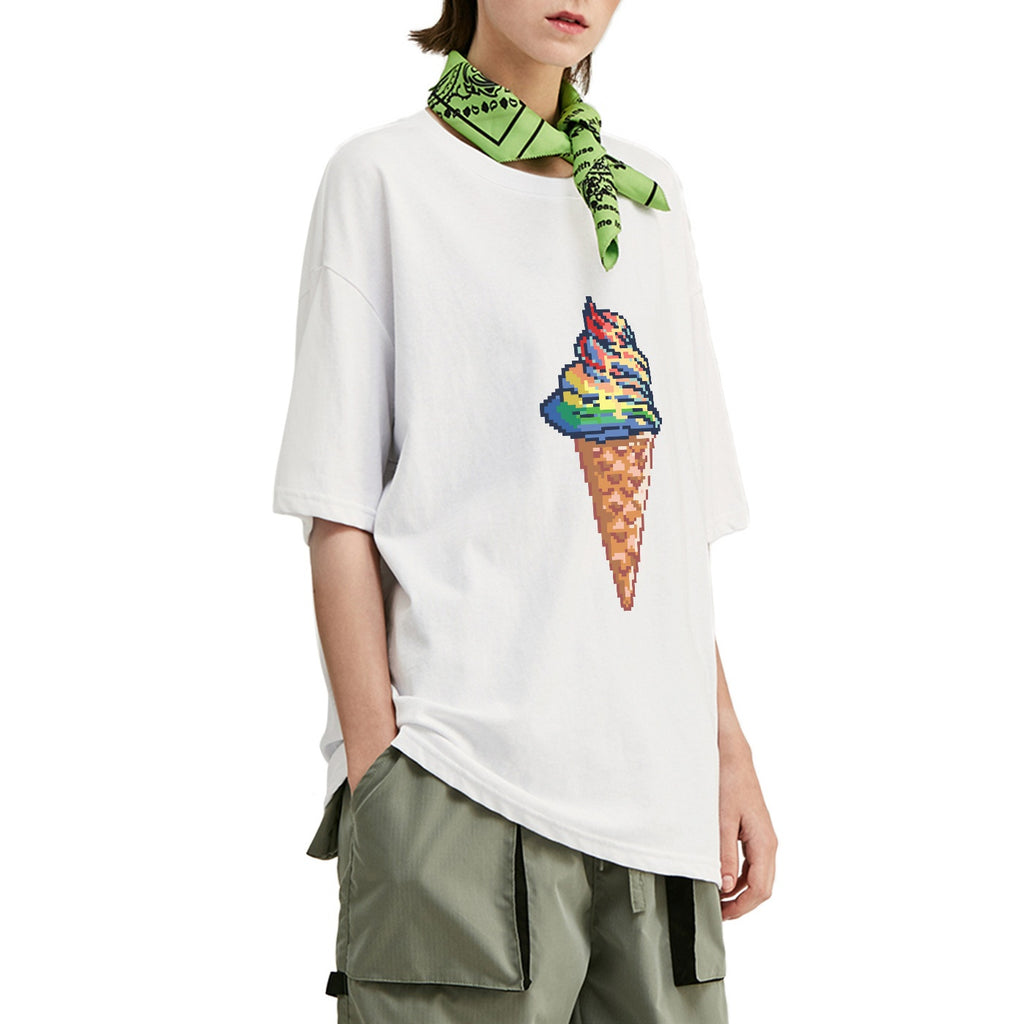 Pixelated Unicream Oversized T-Shirt