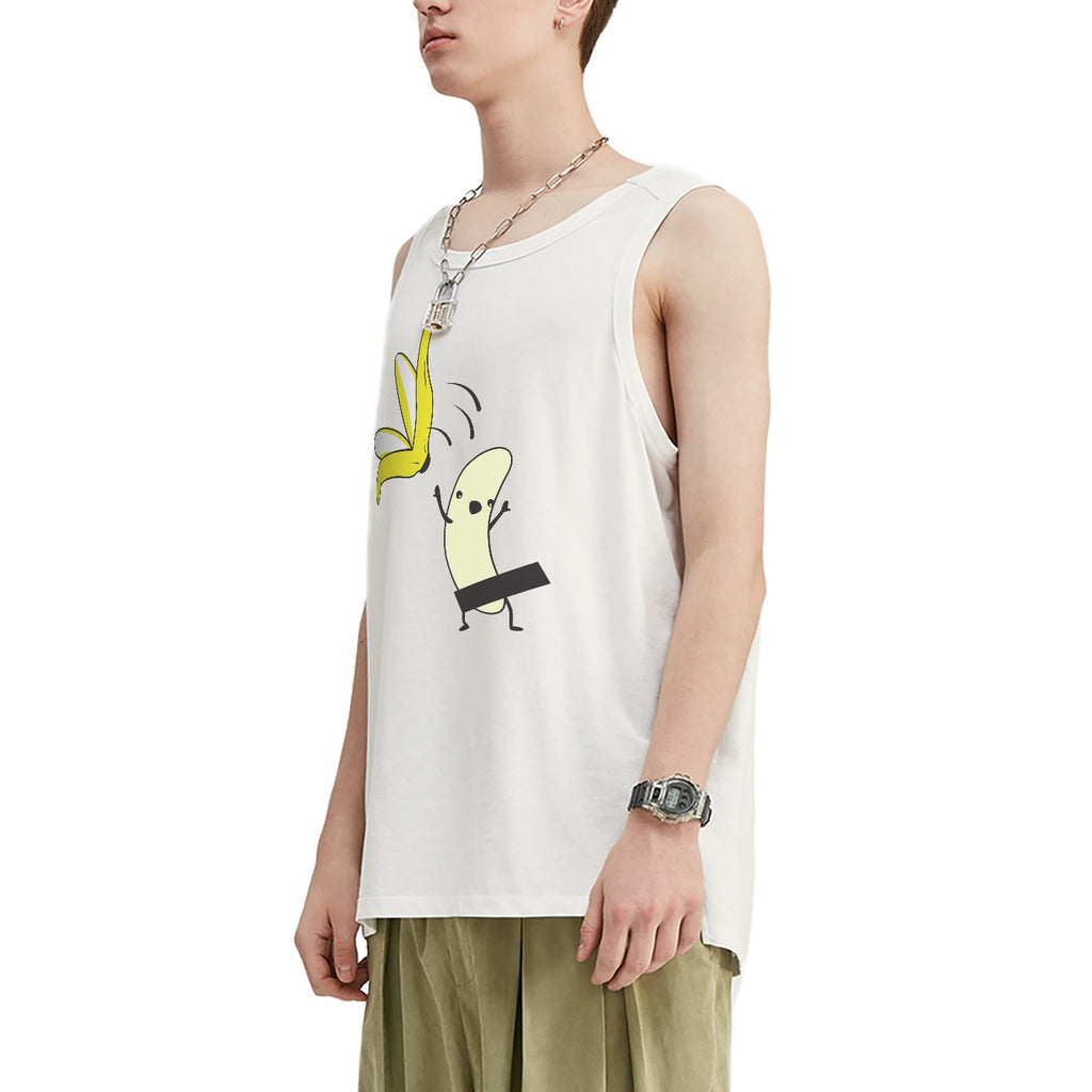 Jumping Banana Oversized Tank Top