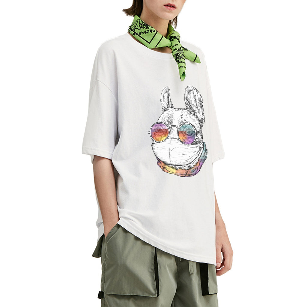 Masked French Bulldog Oversized T-Shirt