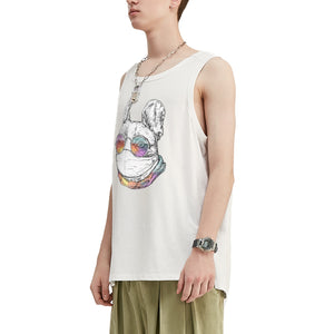 Masked French Bulldog Oversized Tank Top
