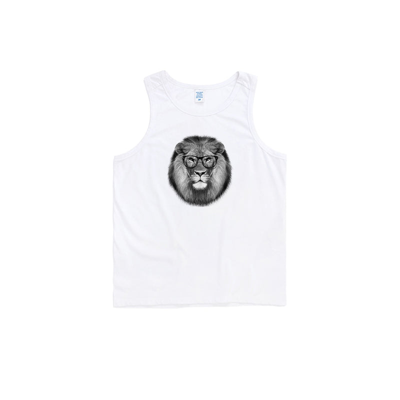 Hipster Lion Oversized Tank Top