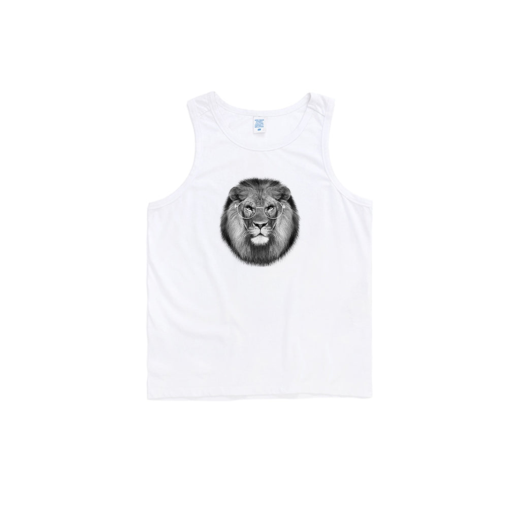 Metal Frame Lion Oversized Tank Top