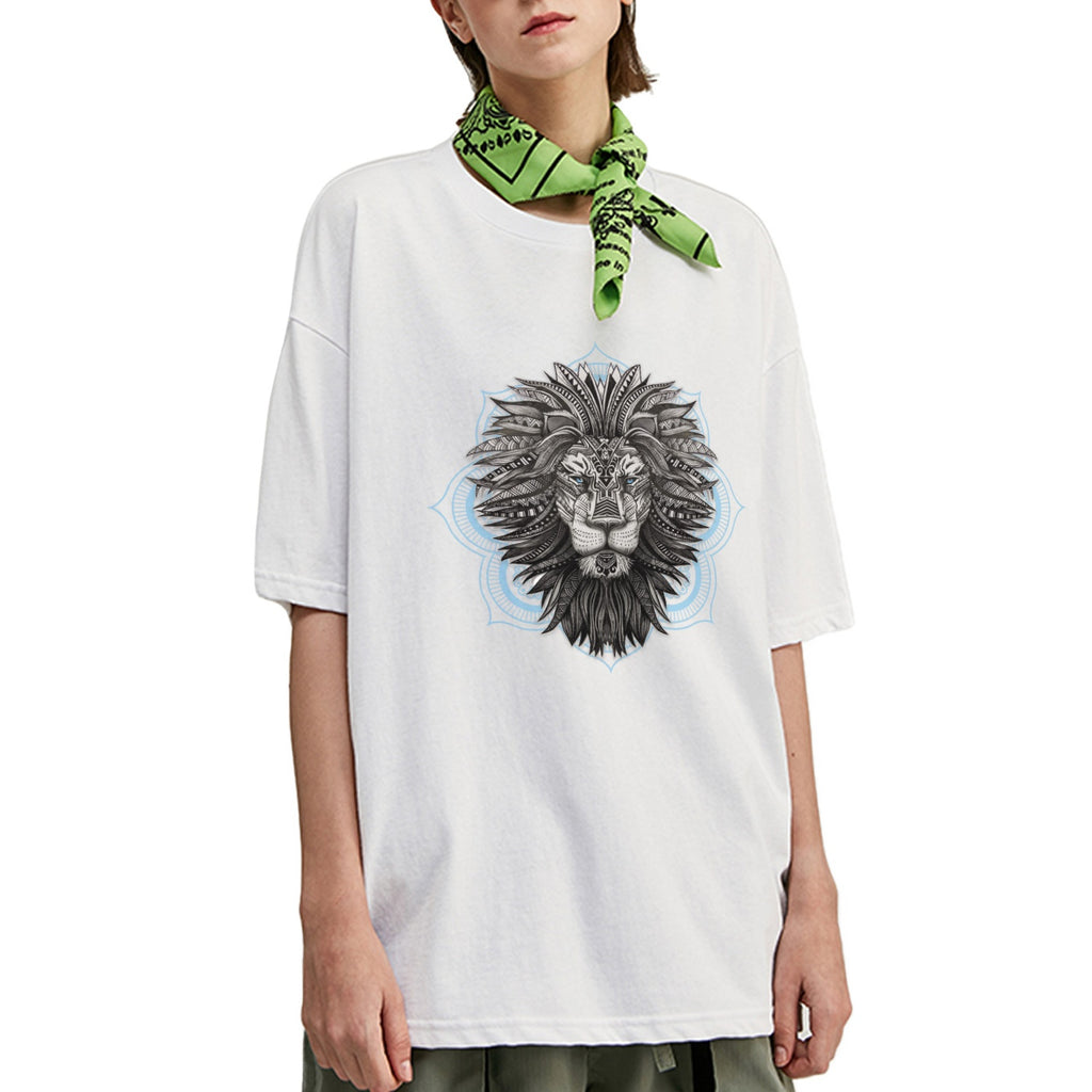 Tribal Lion Oversized T-Shirt