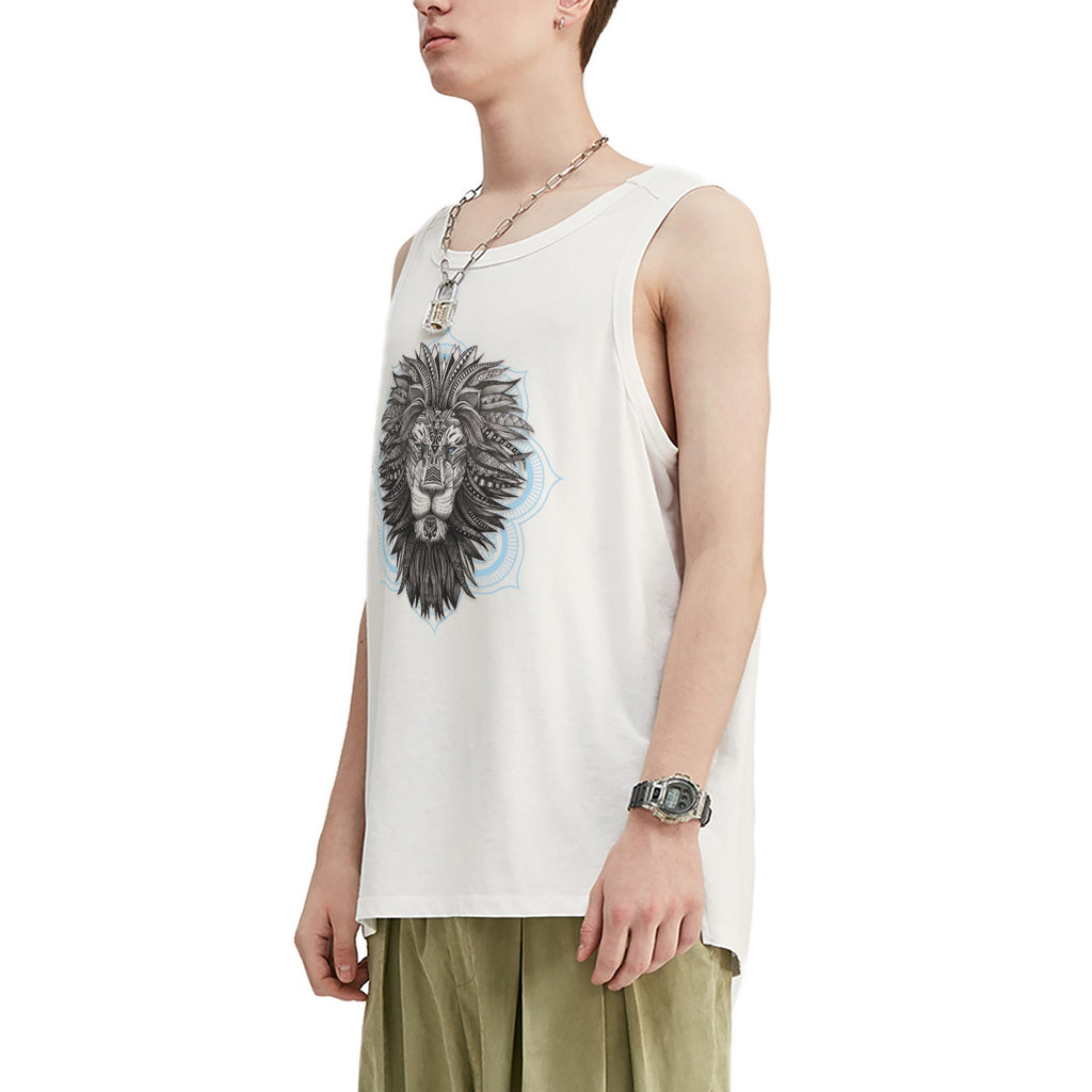 Tribal Lion Oversized Tank Top