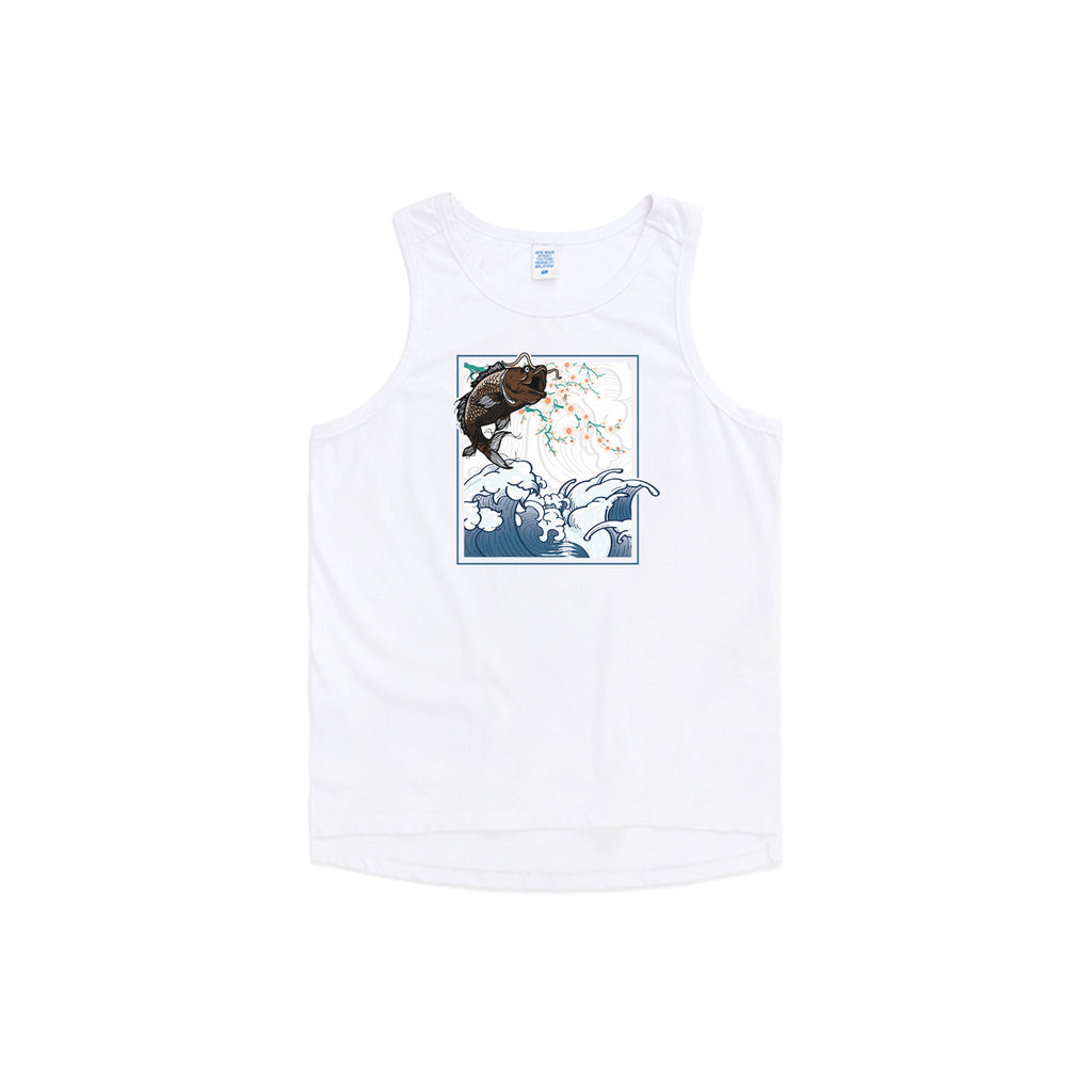 Jumping Koi Oversized Tank Top