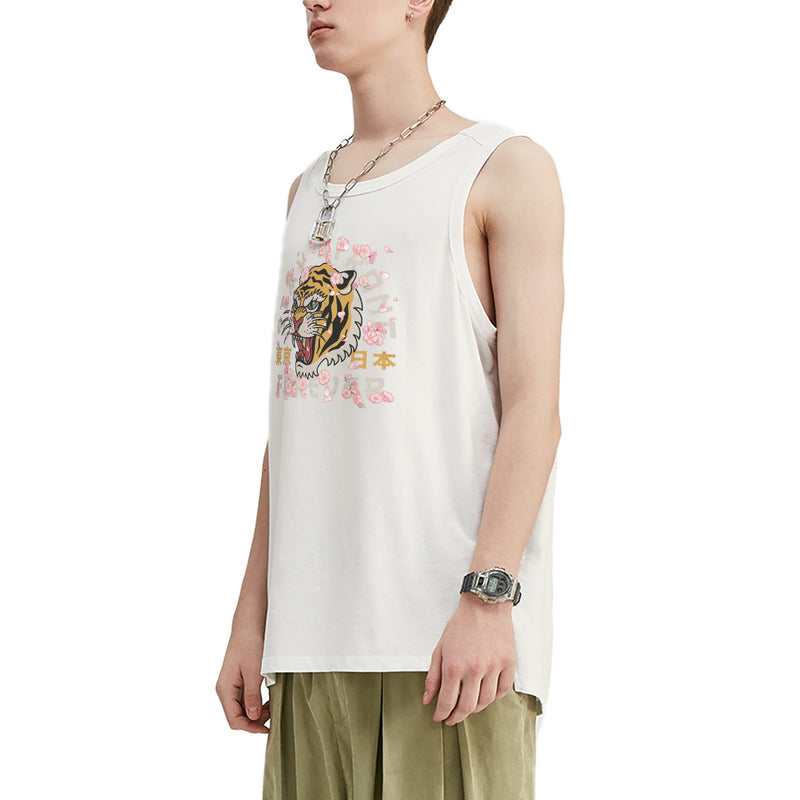 Autumn Tiger Oversized Tank Top
