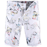 Letter Printed Jeans Shorts