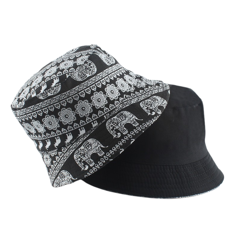 Elephant Pattern Bucket Hat