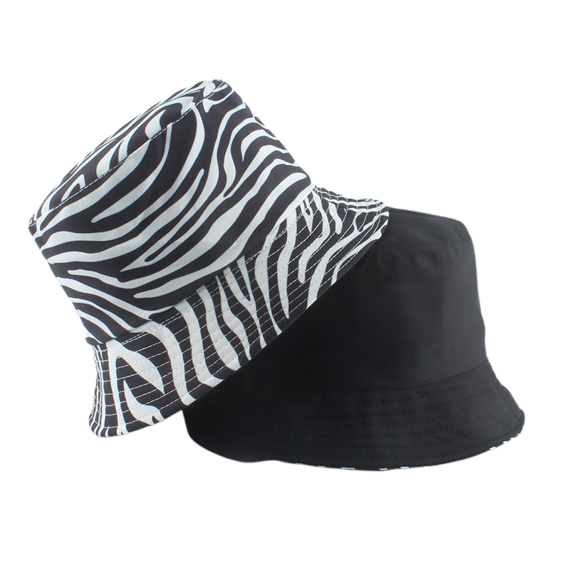 Zebra Striped Bucket Hat