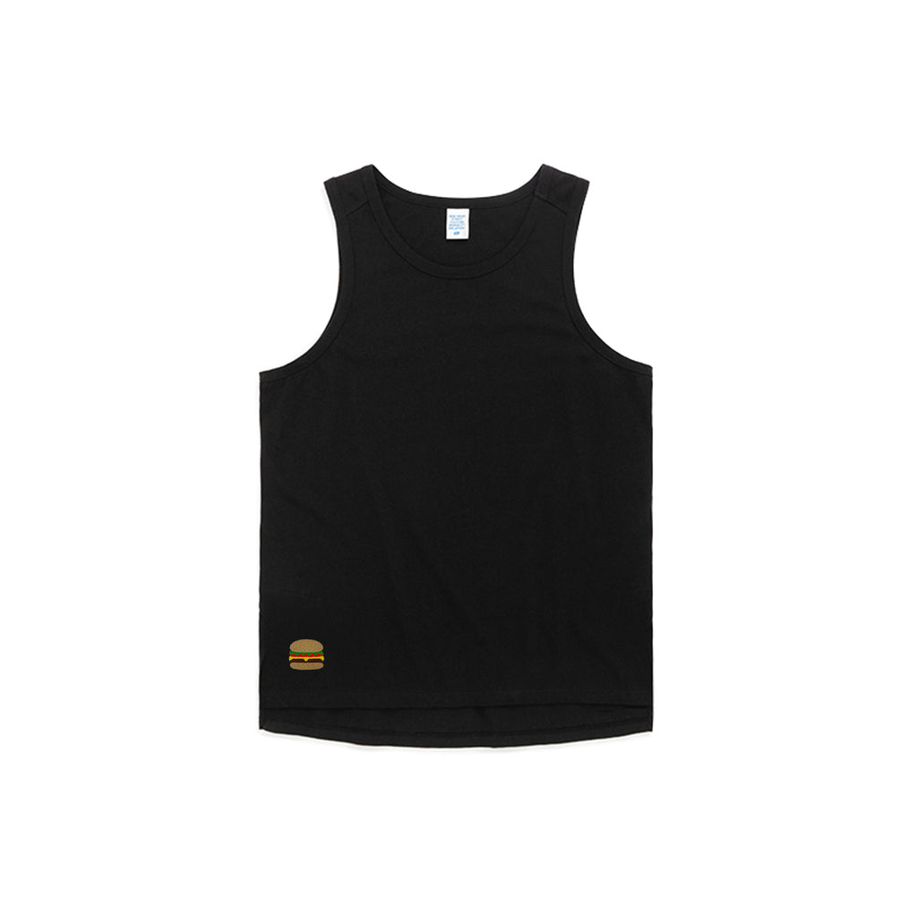 Burger Embroidered Oversized Tank Top