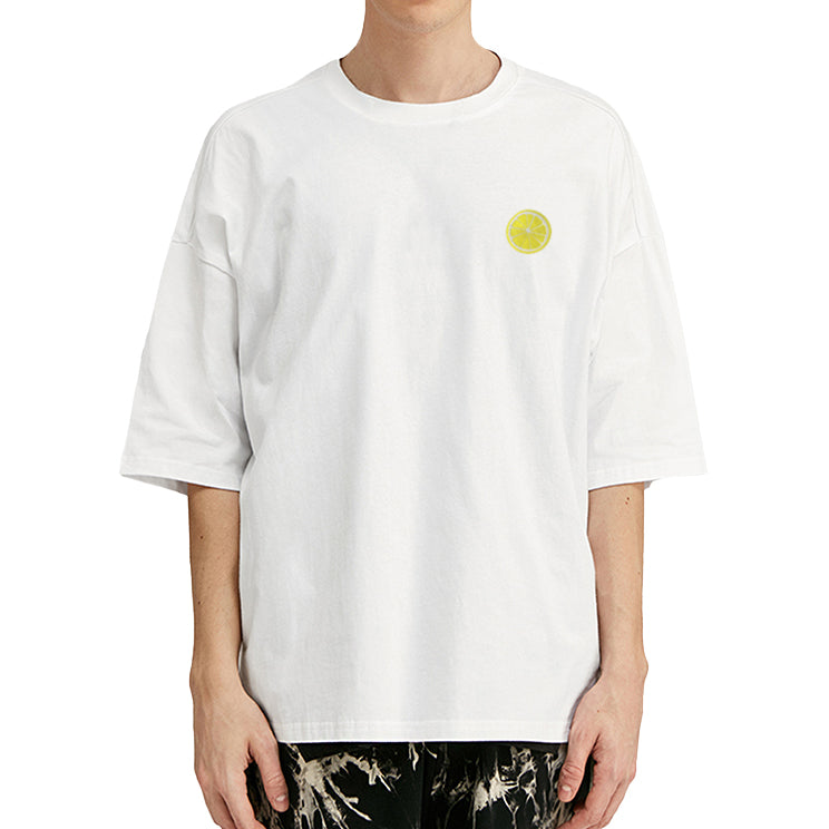 Citron Embroidered Oversized T-Shirt