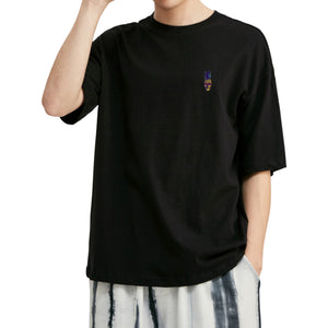 Pineapple Skull Embroidered Oversized T-Shirt