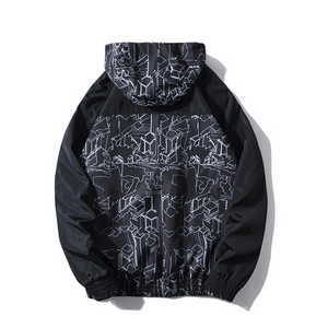 City Pattern Rain Coat