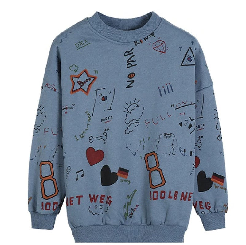 Women Graffiti Sweatshirt