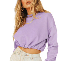 Long Sleeve Cropped Sweatshirt