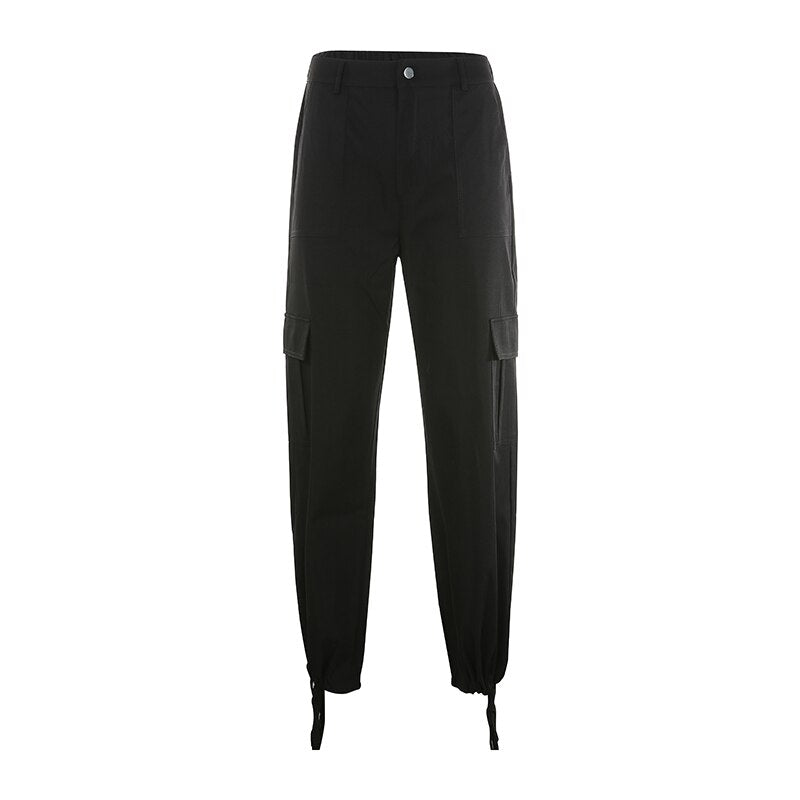 Elastic High Waist Pants