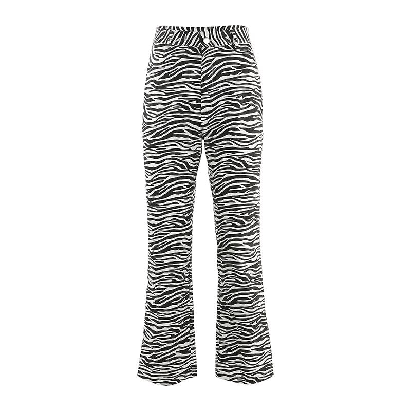 Zebra Printed Pants