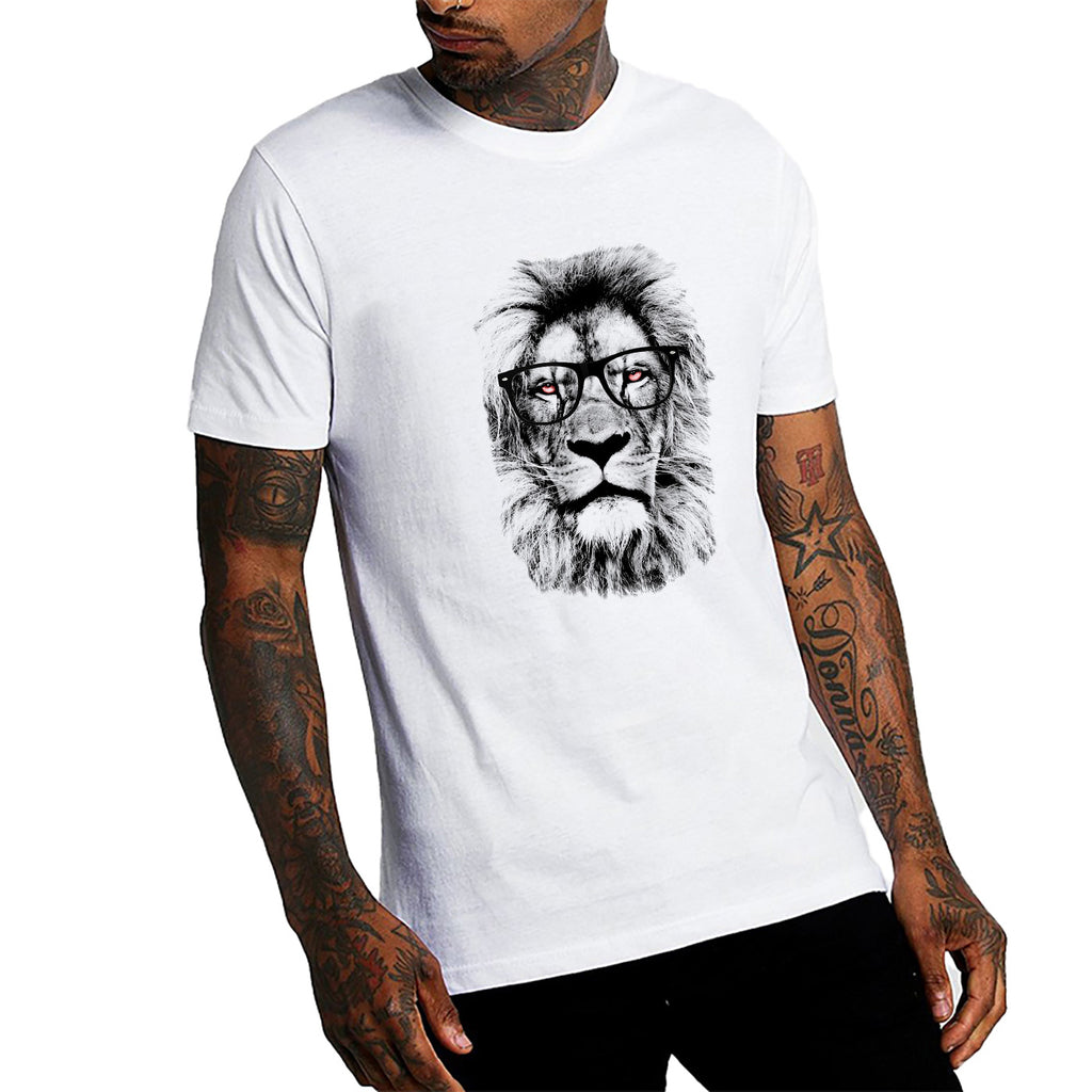 Orange Eyes Lion T-Shirt