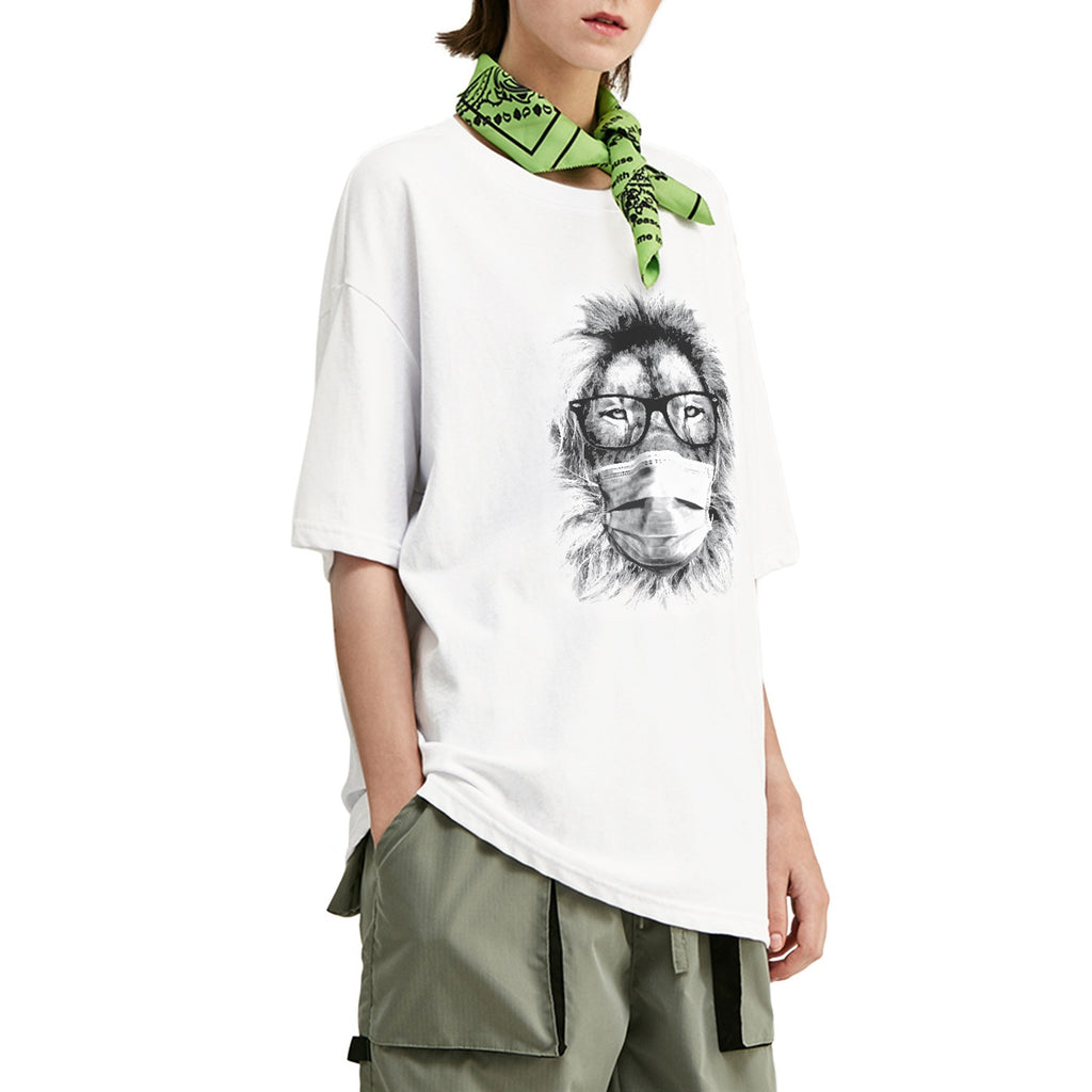 Masked Fashion Lion Oversized T-Shirt