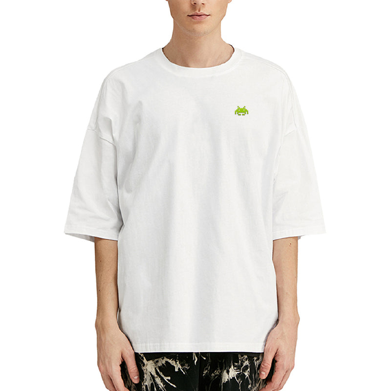 Space Crab Embroidered Oversized T-Shirt
