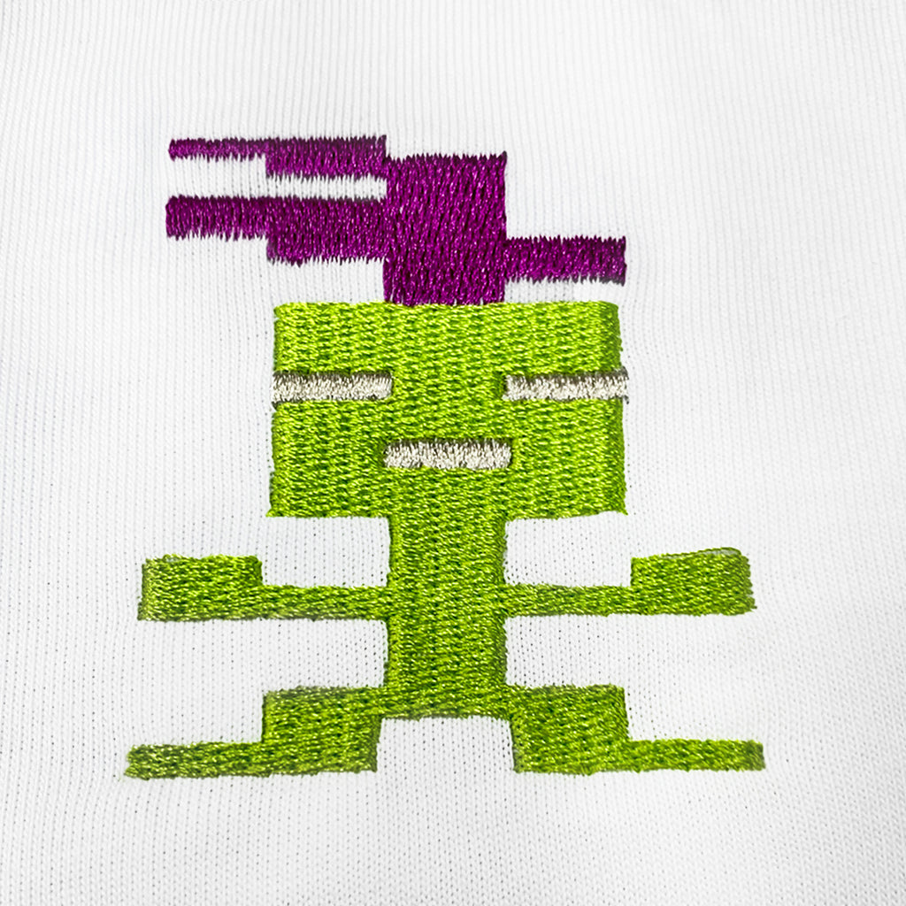 Purple Alien Embroidered T-Shirt