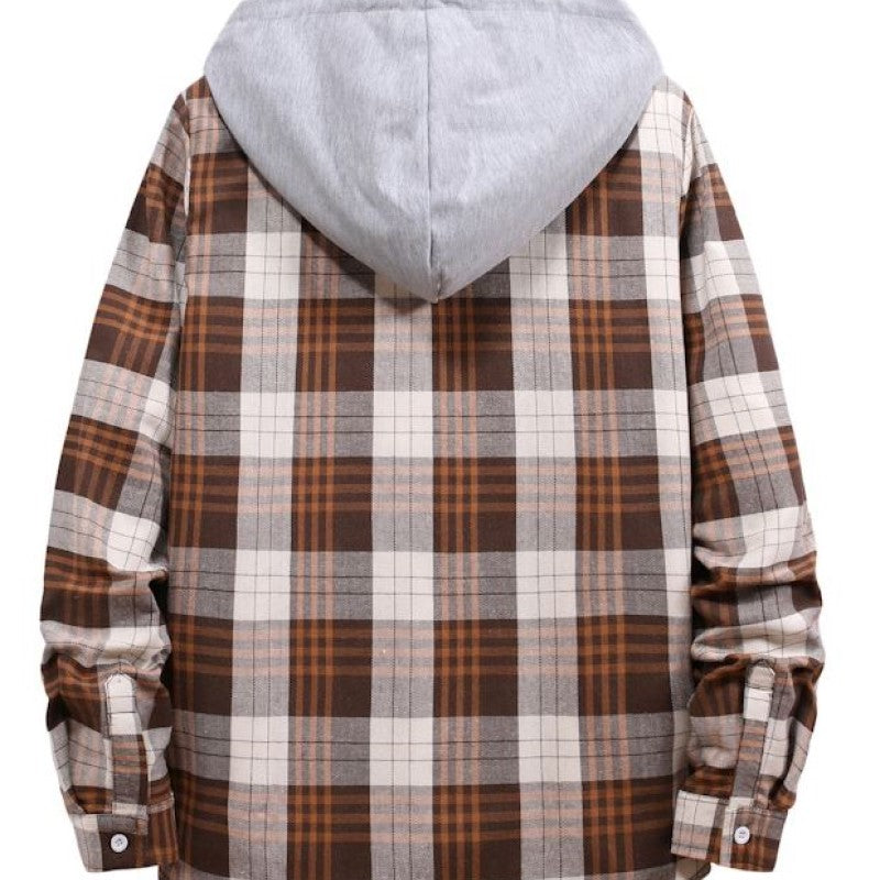 Checked Hoodie