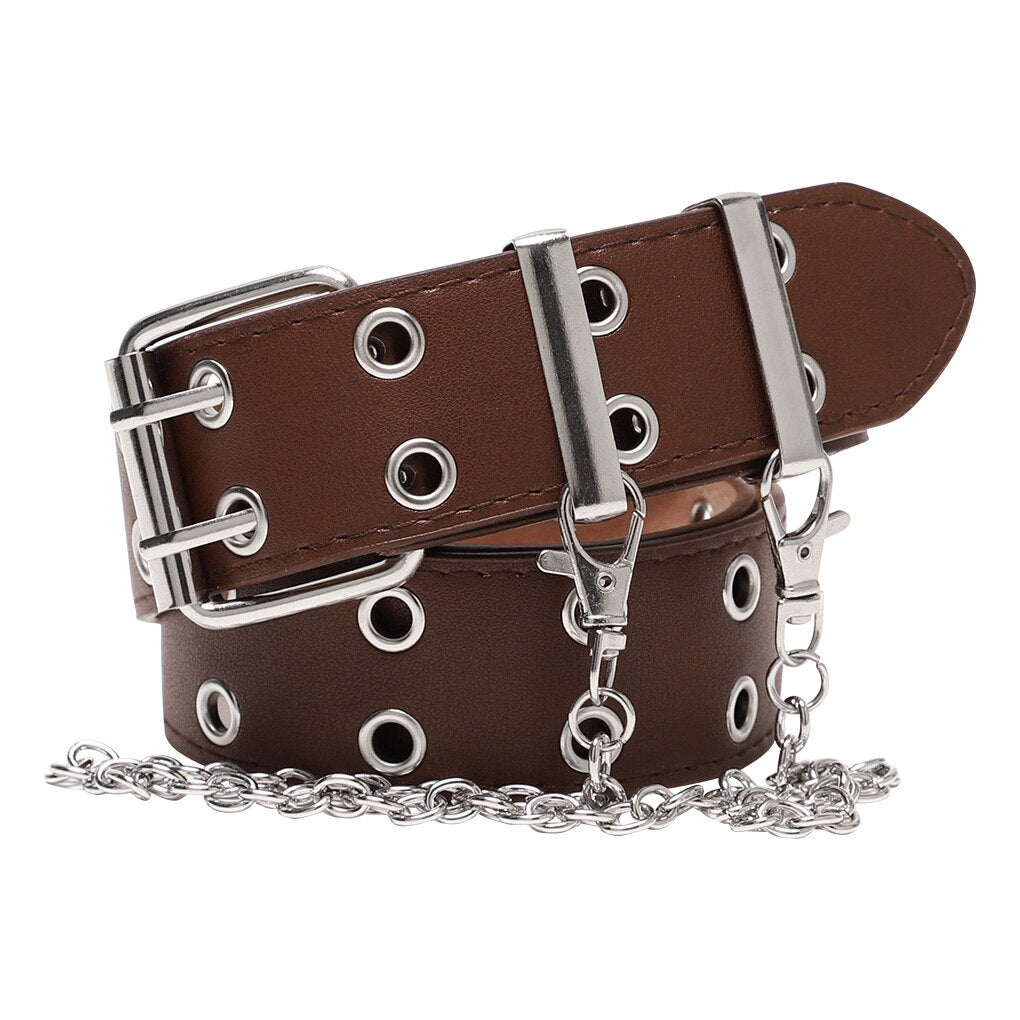 Punk Leather Belt