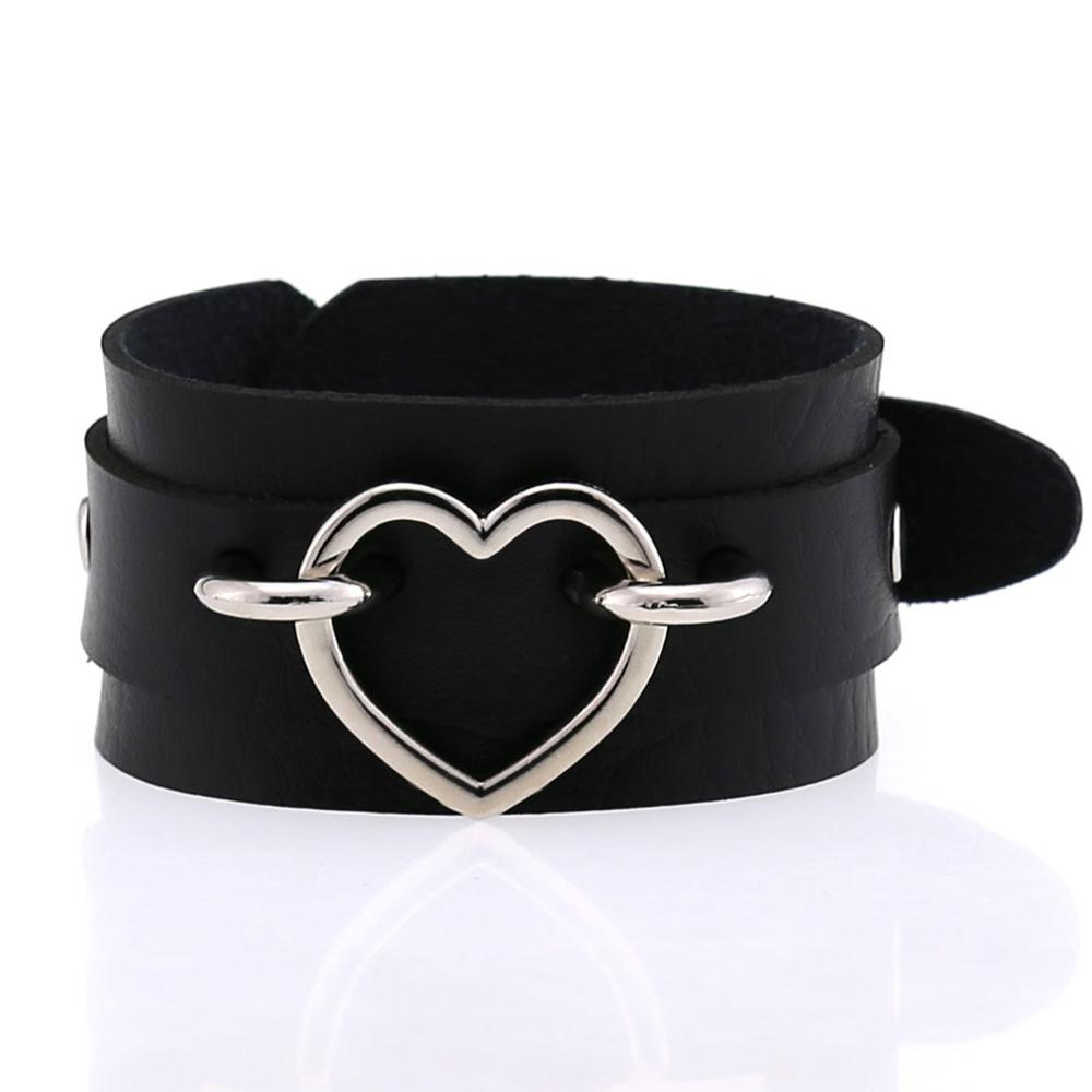 Heart Cuff Leather Bracelets