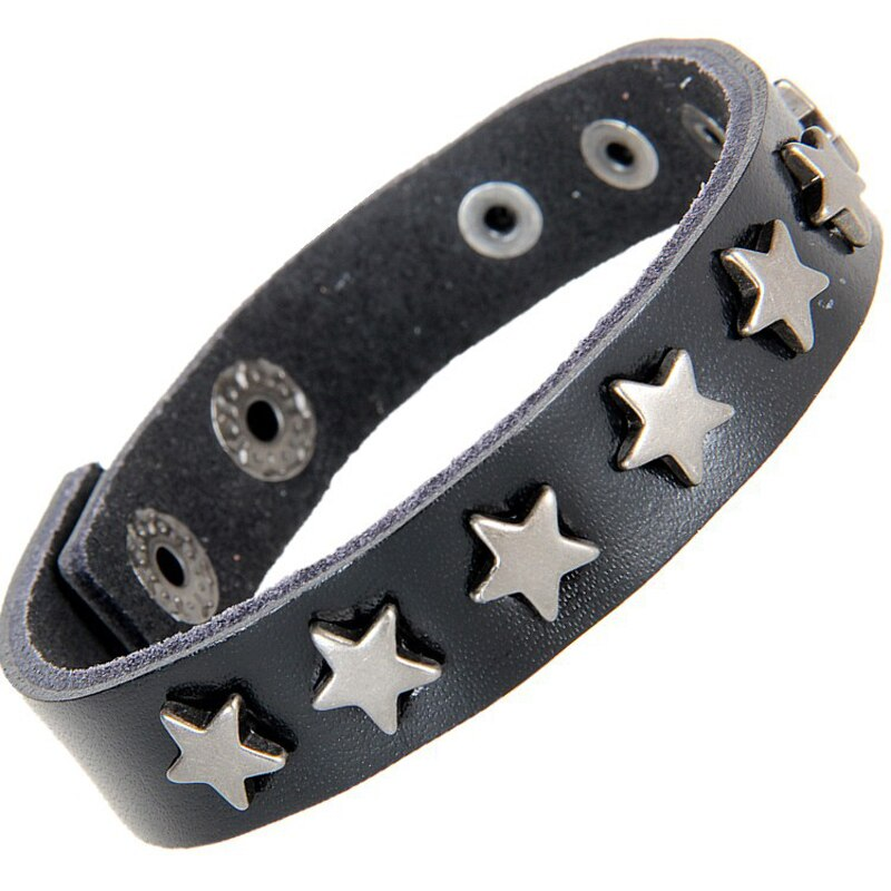 Rock Leather Bracelet