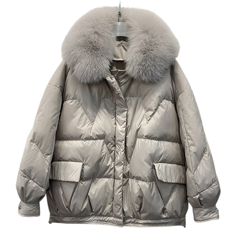 Faux-Fur Puffed Jacket