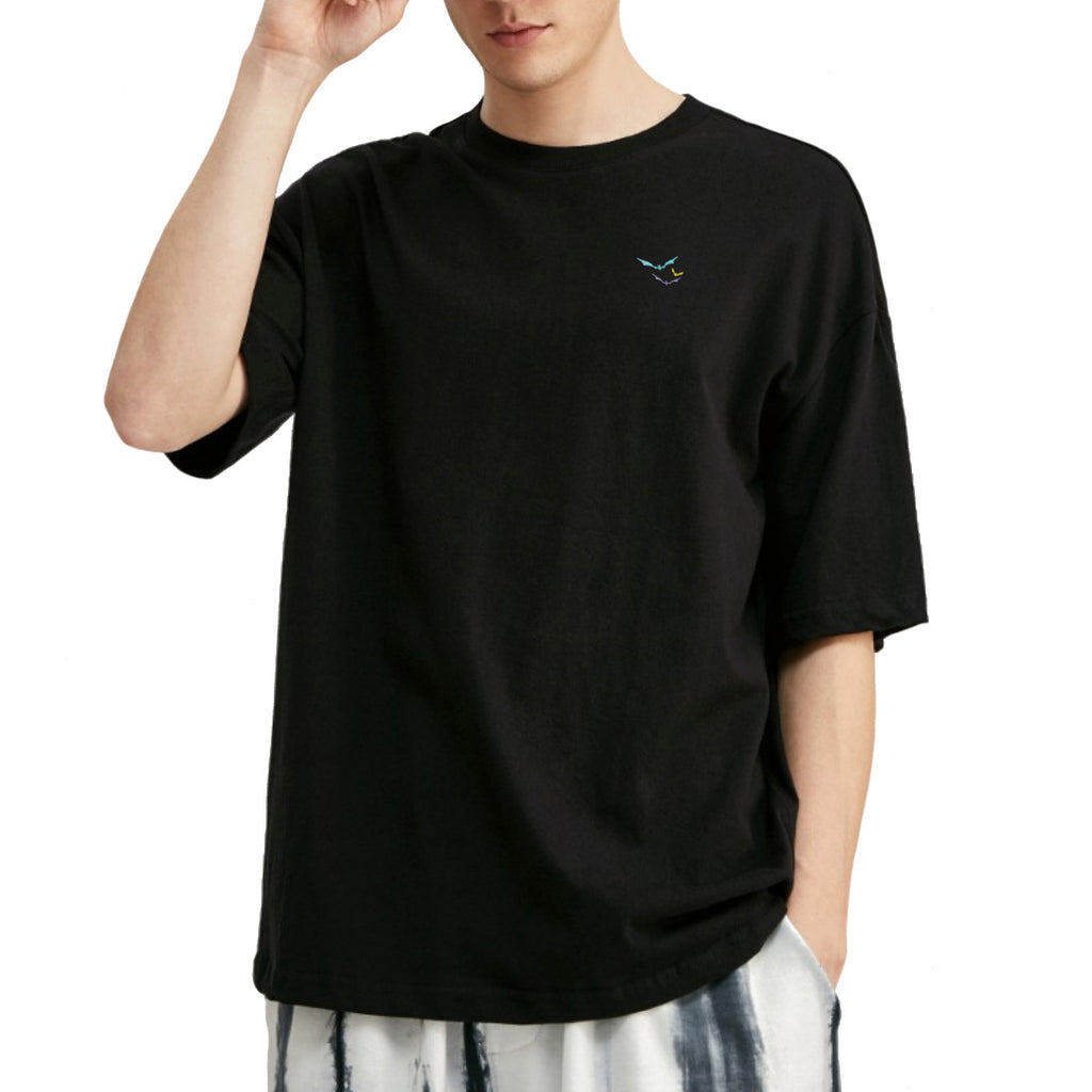 Bats Embroidered Oversized T-Shirt