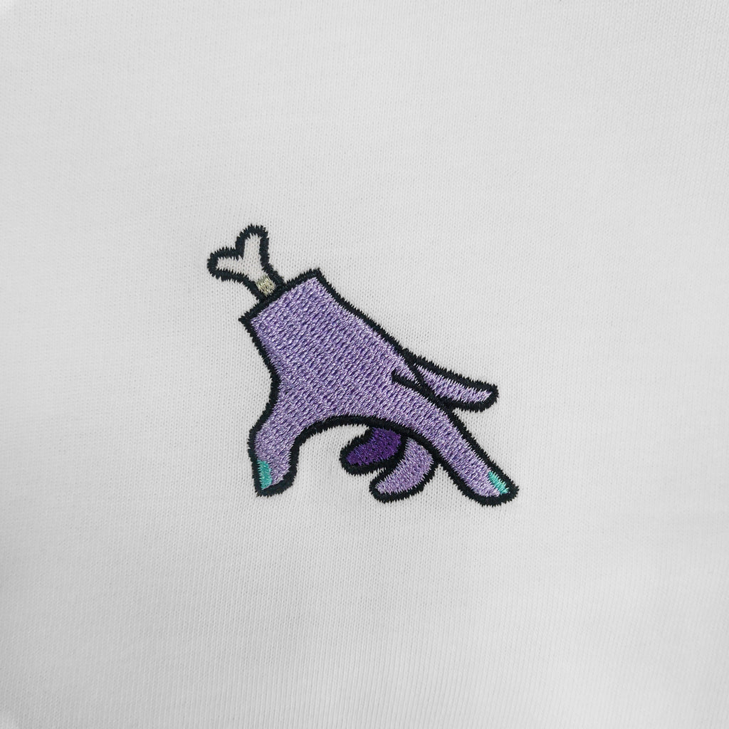 Zombie Hand Embroidered T-Shirt