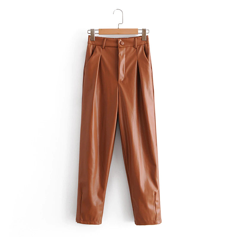 Elegant Leather Pants