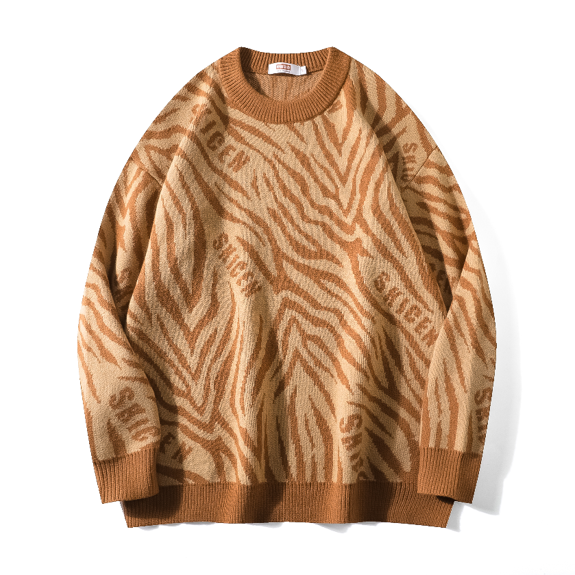 Zebra Striped Sweatshirt