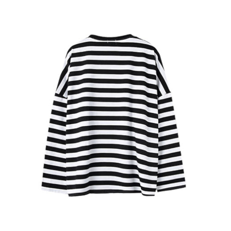 Striped Long Sleeve Sweatshirt