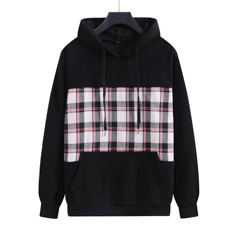 Checkered Pattern Hoodie