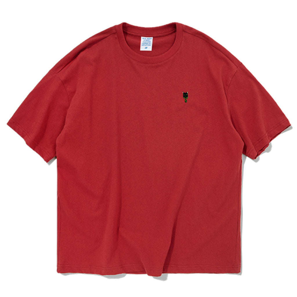 Mr.Boss Embroidered Oversized T-Shirt