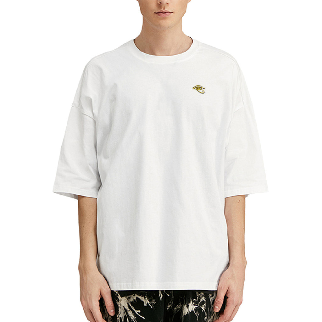 Eye of Horus Embroidered Oversized T-Shirt