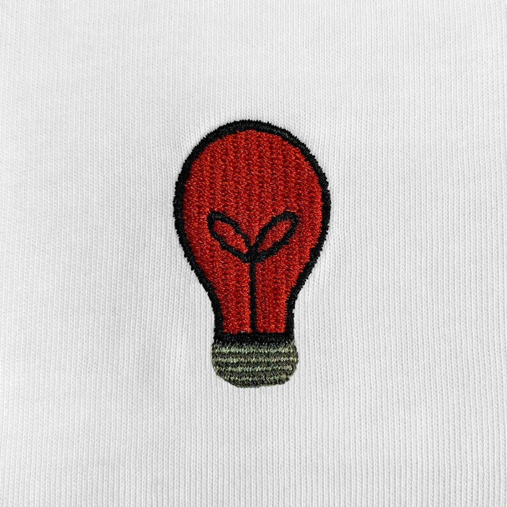Bulb Embroidered Oversized T-Shirt