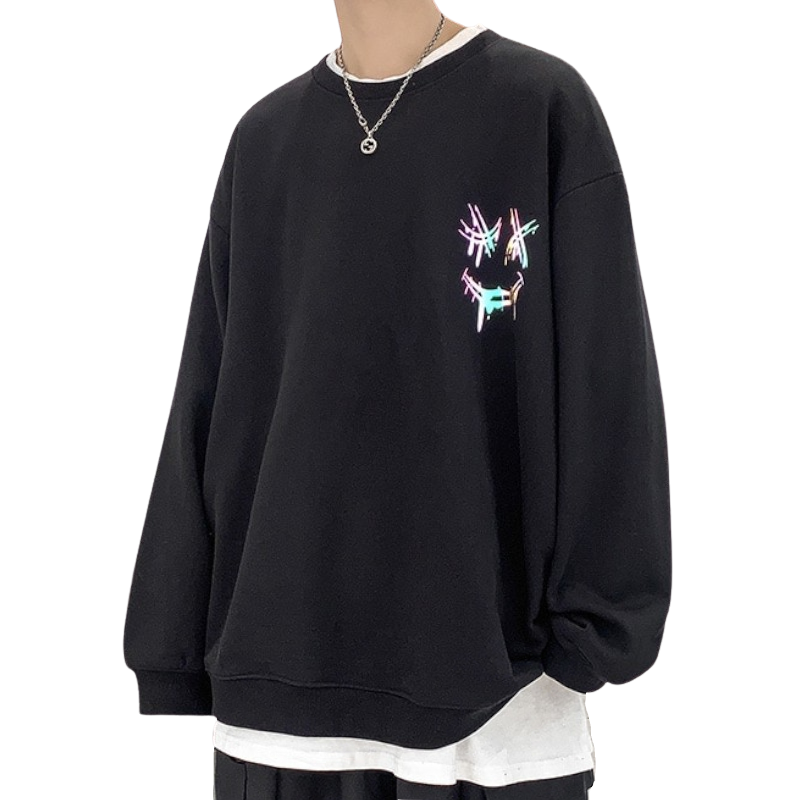 Oversized Reflective Sweatshirt