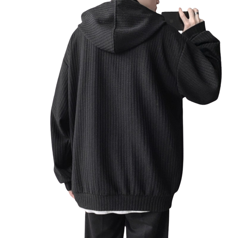 High Neck Knitted Hoodie