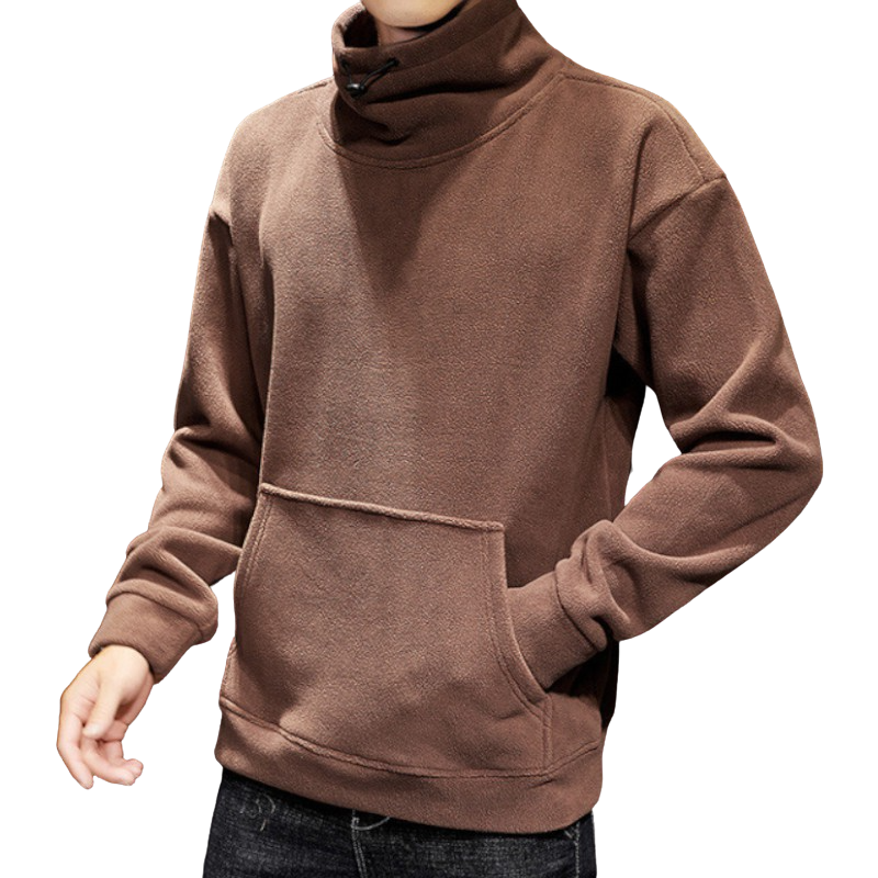 High Collar Long Sleeve Sweatshirt