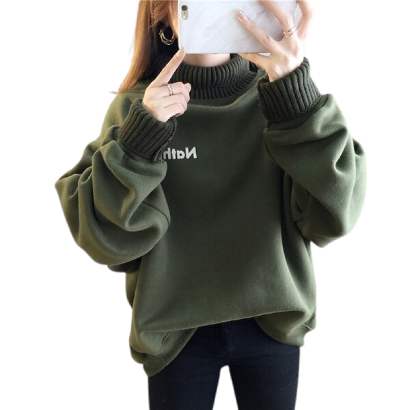 Stylish High Neck Sweatshirt