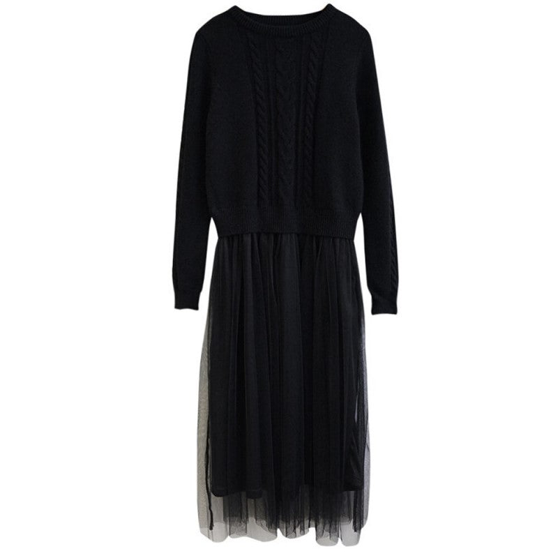 Long Sleeve Tulle Dress
