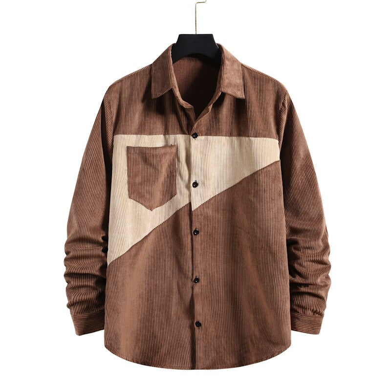 Corduroy Long Sleeved Button Shirt