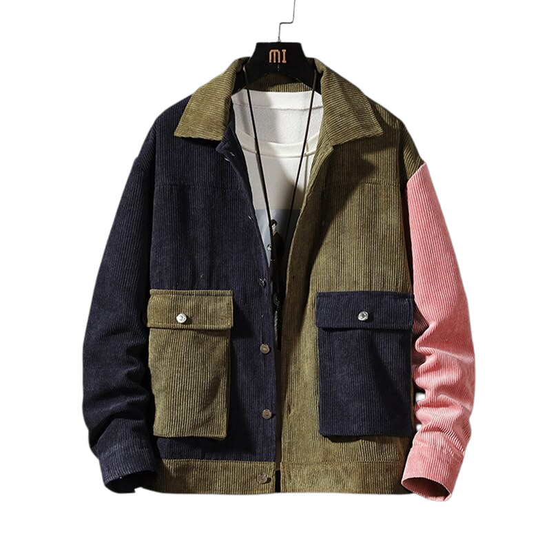 Patchwork Corduroy Jacket